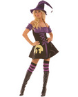 4 pc moonlight witch dress, arm bands, thigh hi's and hat black sm