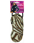 Satin blindfold 2 strap - leopard