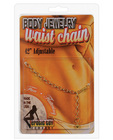 Waist chain hammered link - gold