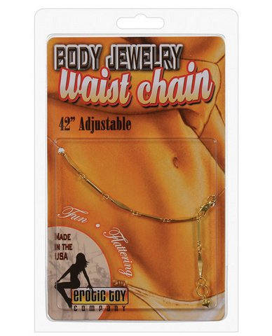 Waist chain oval links - gold
