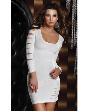 Sexy slit euphoria dress white md