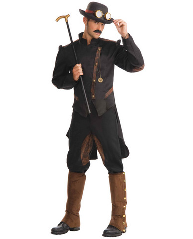 2 pc steampunk gentleman jacket and pants black o/s