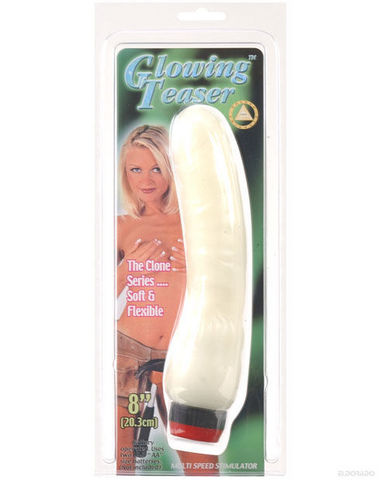 Nite lite glowing teaser white vibrator