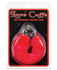 Love cuffs furry - red