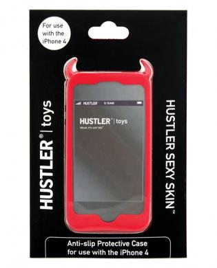 Hustler sexy skin iphone 4 protective case - red
