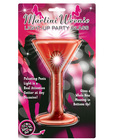 Martini weenie light up party glass - red