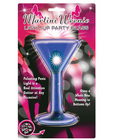 Martini weenie light up party glass - blue