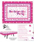 Bachelorette party table cloth w/trivia game and 4 markers