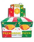 Peckoroni pizza gummy pizza - display of 24