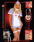 Halloween pvc nurse costume combo - os
