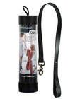 Kinklab leather leash - black