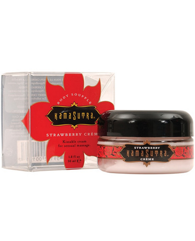 Kama sutra petite  body souffle - strawberry 1.8 oz (clear packaging)