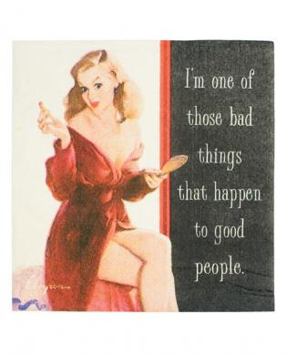 Vintage vixen i'm one of those bad things.....napkins - set of 20