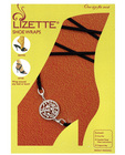Round medallion shoe wraps - black