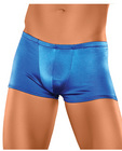 Male power satin lycra boxer blue x large