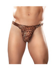 Male power wonder thong animal print l/xl
