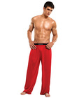100% silk lounge pants red sm