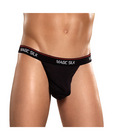 100% silk micro thong black sm