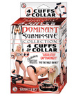 Dominant submissive collection - 4 cuffs and a collar Sex Toy Product