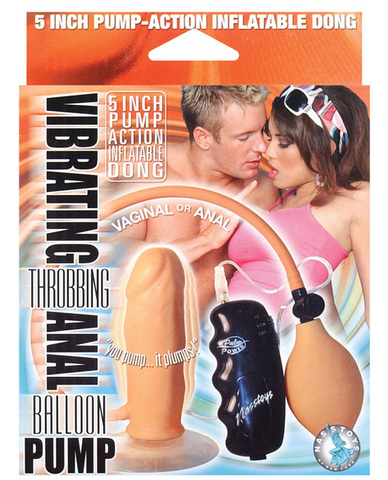 Vibrating Throbbing Anal Balloon Pump