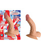 Real skin all american whoppers 5in w/balls - flesh