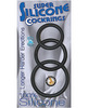 Super silicone cock rings waterproof - 3 sizes black