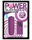 Power slim bullet remote control - purple Sex Toy Product