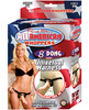 All American 8in Dong W/Harness - Beige	 Sex Toy Product Image 2