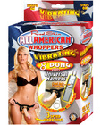 All american whoppers universal harness w/vibrating 8in dong
