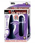 My first surge vibrating butt plug - black