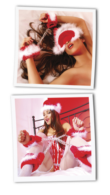 Fetish Fantasy Xmas Plush Cuff set - 4 pc set