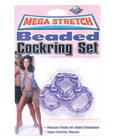 Mega stretch bead c-ring - purple