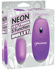 Neon luv touch bullet - 5 function purple Sex Toy Product