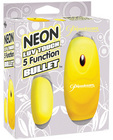 Neon luv touch bullet - 5 function yellow