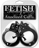 Fetish fantasy series anodized cuffs - black