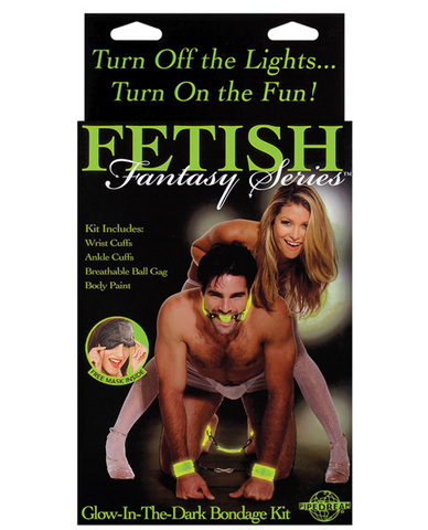 Fetish Fantasy Glow In The Dark Bondage Kit