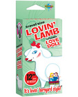 Travel size lovin&#039; lamb blow up doll
