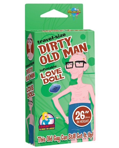 26in travel-size dirty old man love doll Sex Toy Product