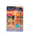 Body heat lotion sampler