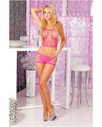 Pink lipstick seamless slit hot short set pink o/s