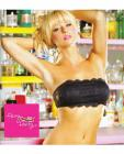 Party bra lace bandeau w/center inner zipped pocket, can be worn 4 ways black m/l