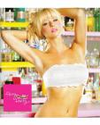 Party bra lace bandeau w/center inner zipped pocket, can be worn 4 ways white s/m