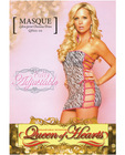 Microfiber zebra print chemise w/adjustable straps on both sides and tie side panty black/white xl