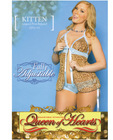 Babydoll w/stretch lace straps tie behind neck and light blue mesh boyshorts leopard 2x/3x