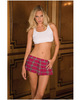 Rene rofe school girl mini skirt plaid pink lg