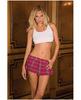 Rene rofe school girl mini skirt plaid pink md