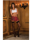 Rene rofe school girl mini skirt plaid red sm
