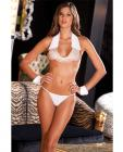 Rene rofe big spender collar, cuffs and g-string white s/m