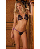 Rene rofe lace tie-up bra and thong black o/s