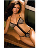 Rene rofe microfiber and lace teddy leopard s/m